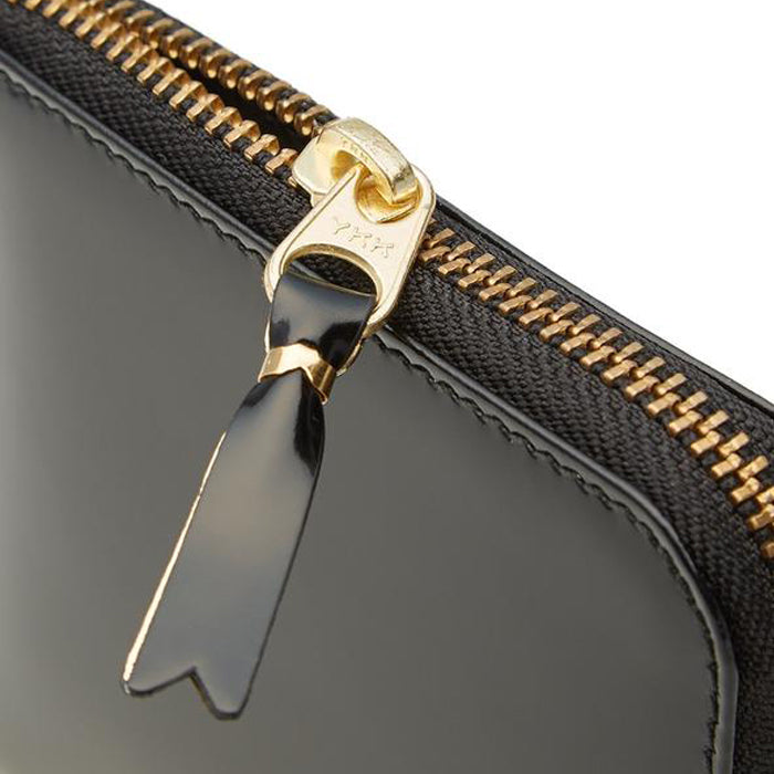 MIRROR INSIDE WALLET - BLACK/GOLD
