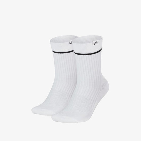 NIKE SNKR CREW SOCKS - WHITE (2PACK)
