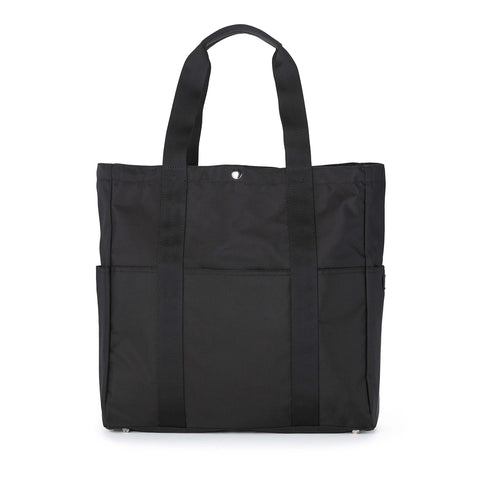 SHERPA TOTE BAG 100% NYLON WOVEN - BLACK