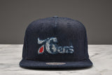 "LAPSTONE & HAMMER x MITCHELL & NESS ""DESTRUCTED DENIM"" - 76ERS LOGO"