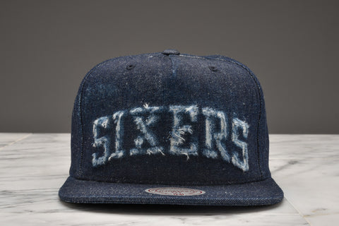 "LAPSTONE & HAMMER x MITCHELL & NESS ""DESTRUCTED DENIM"" - 76ERS SCRIPT"
