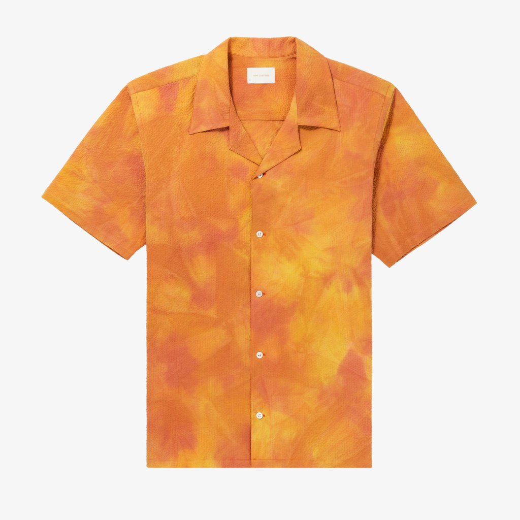 SPRAY DYE LEISURE SHIRT - YELLOW