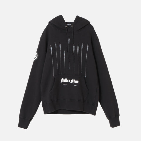 FALLEN MAN ARROW HOODIE - BLACK