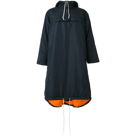 HOODED PULLOVER COAT - NAVY