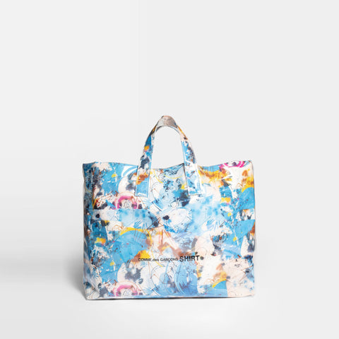 FUTURA PRINT SHOPPER BAG - BLUE