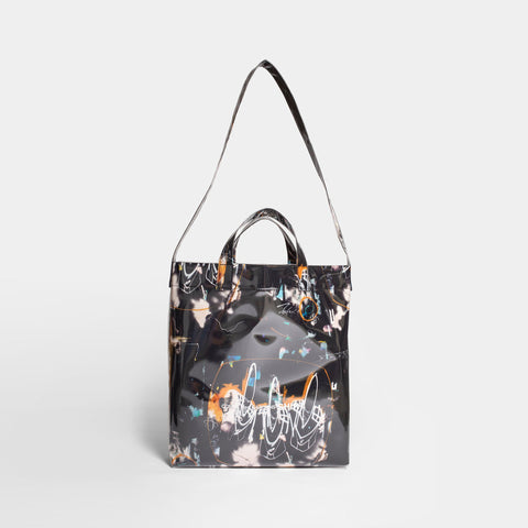 Futura Print small Bag - BLACK