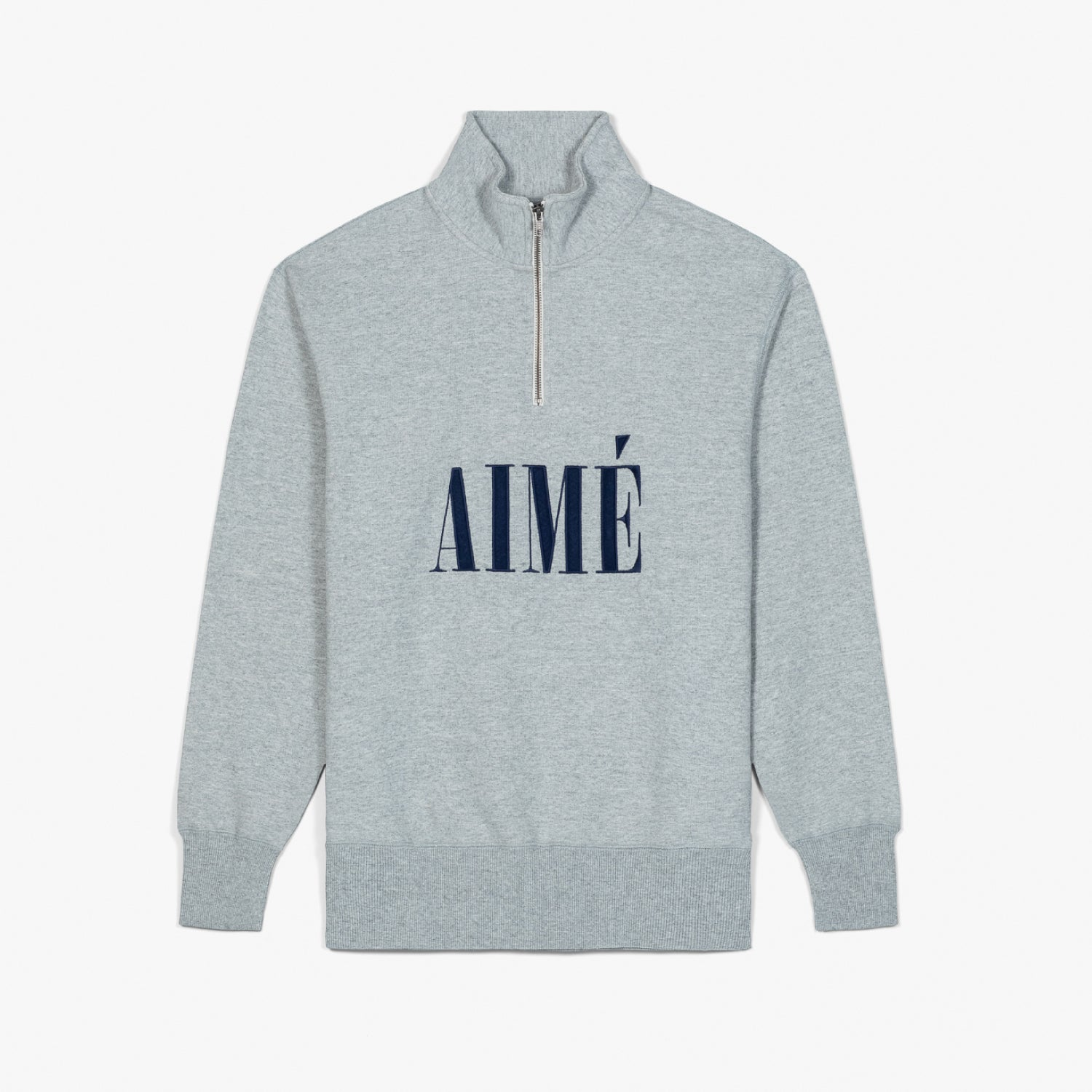 AIME QUARTER ZIP PULLOVER - GREY