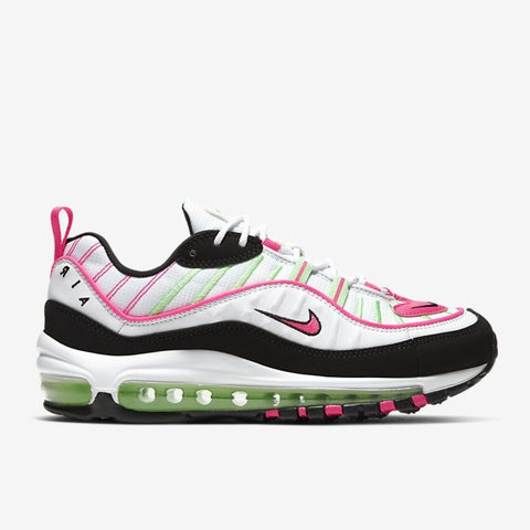 WMNS AIR MAX 98 - WHITE / ILLUSION GREEN / HYPER PINK