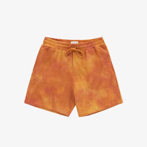 SPRAY DYE LEISURE SHORT - YELLOW