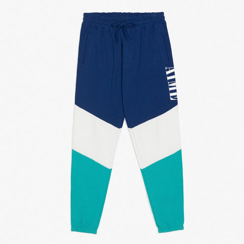 COLOR BLOCKED SWEATPANTS - NAVY / TEAL
