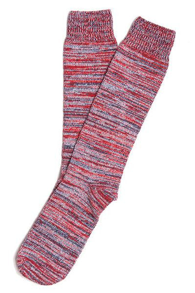 RANDOM PLAIT SOCKS IN COTTON - FIRE