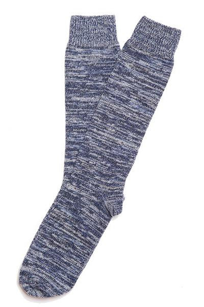 RANDOM PLAIT SOCKS IN COTTON - ICE