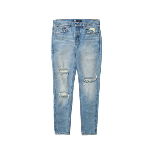 DOMINIC JEANS - VINTAGE DISTRESSED INDIGO