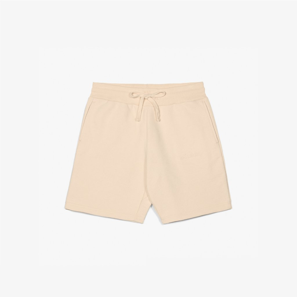 FRENCH TERRY SHORTS - CUSTARD