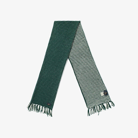 BIRDSEYE KNIT SCARF - GREEN
