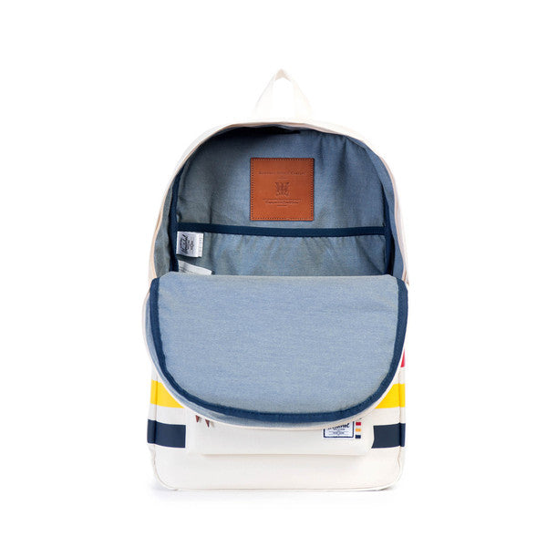 HERITAGE BACKPACK - WHITE / HBC OFFSET STRIPE