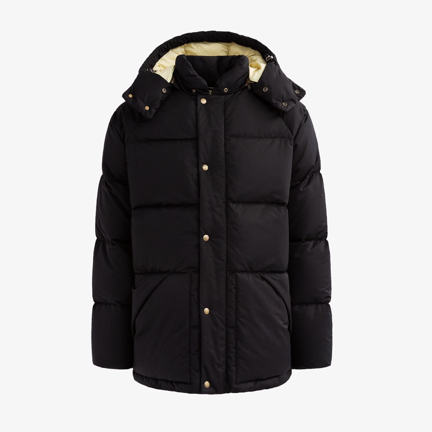 WOOLRICH HOODED DOWN COAT - BLACK