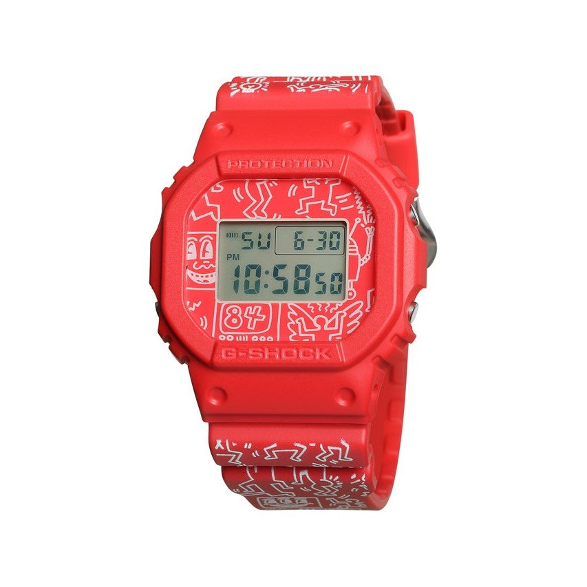 KEITH HARING X G-SHOCK DW5600 - RED