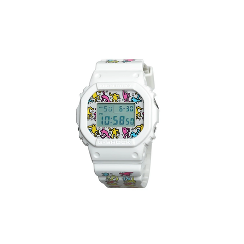 KEITH HARING X G-SHOCK DW5600 - WHITE