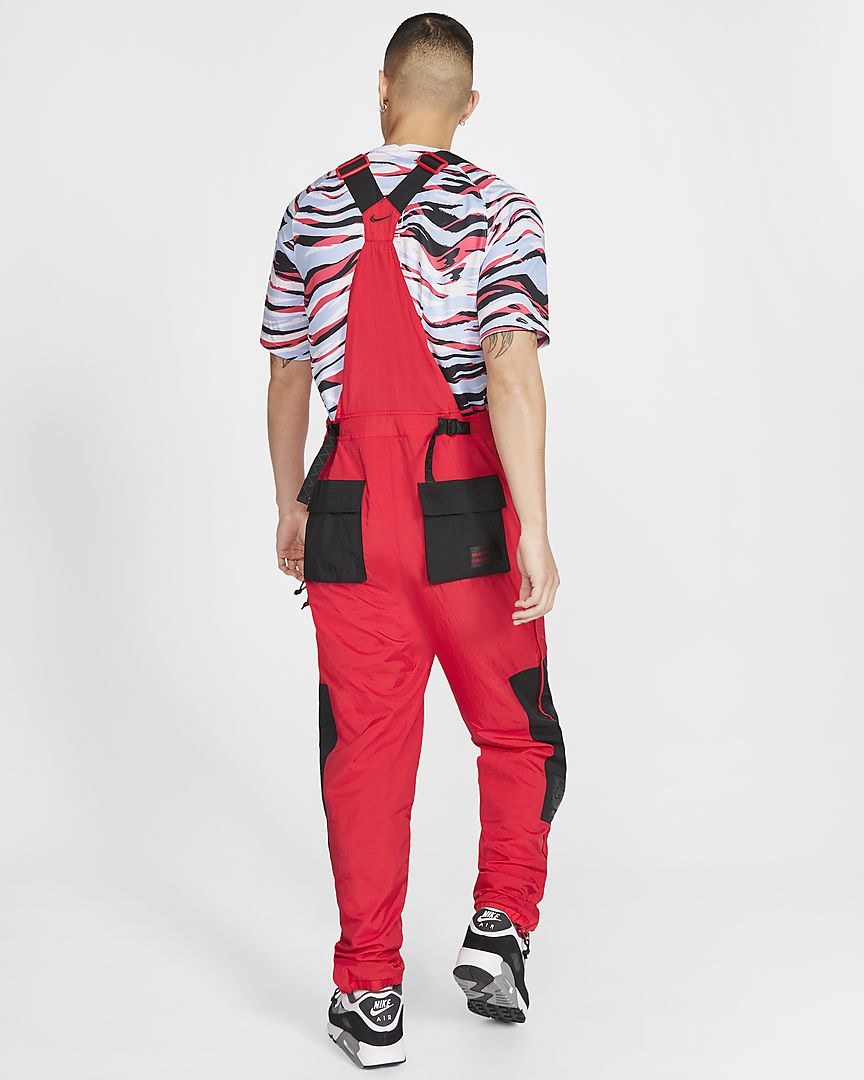 NSW KOREA WOVEN OVERALLS - RED / BLACK