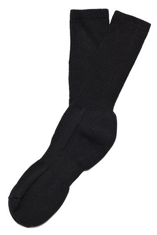 MIL-SPEC SPORT SOCKS WITH SILVER - BLACK