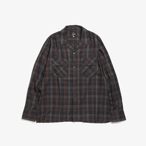 C.O.B.CLASSIC SHIRT - R/PE PLAID TWILL - NAVY