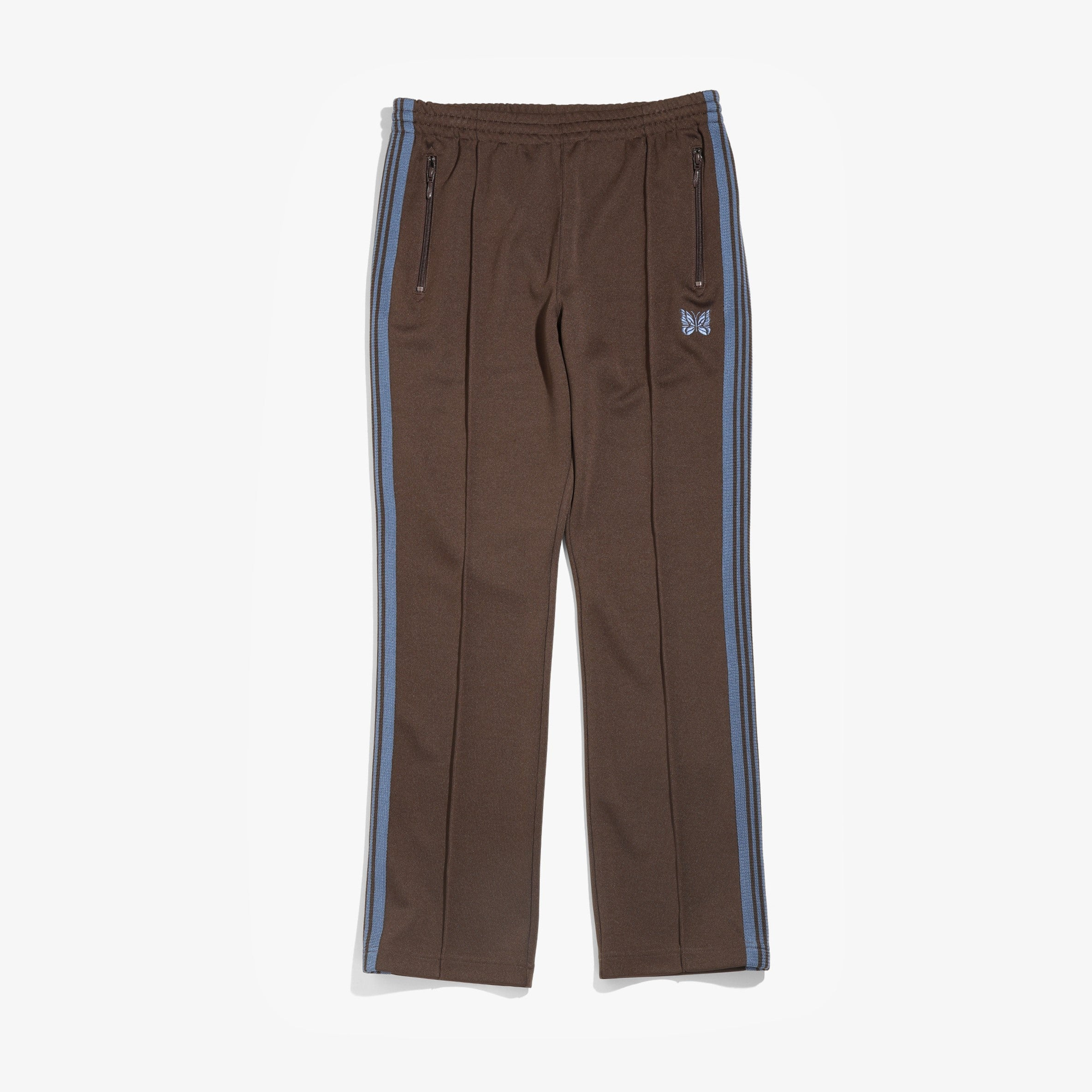 NARROW TRACK PANT POLY SMOOTH - BROWN
