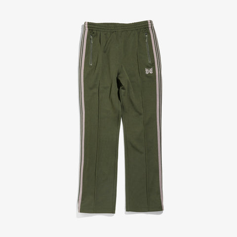 NARROW TRACK PANT POLY SMOOTH - OLIVE