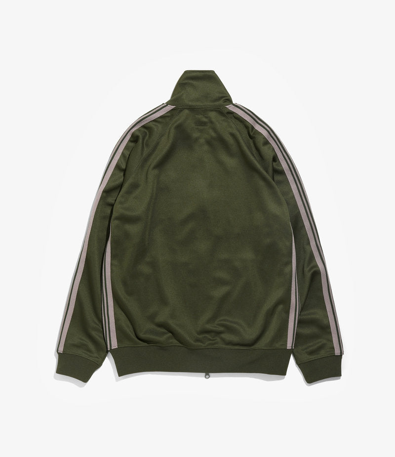 TRACK JACKET POLY SMOOTH - OLIVE