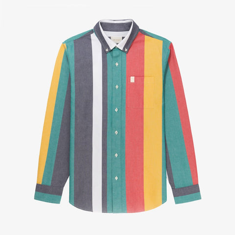 BOLD STRIPED OXFORD SHIRT - MULTI