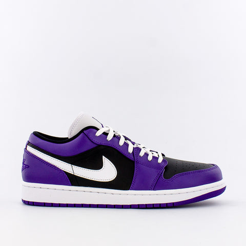 AIR JORDAN 1 LOW (GS) - COURT PURPLE / BLACK / WHITE
