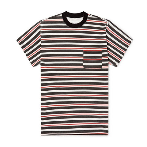 CRUISER STRIPE POCKET TEE - BLACK