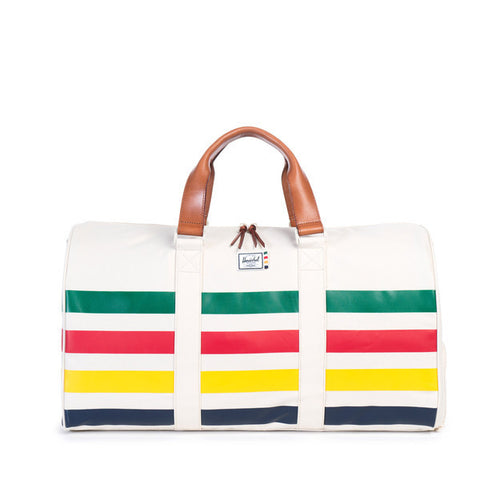 NOVEL DUFFLE - WHITE / HBC OFFSET STRIPE