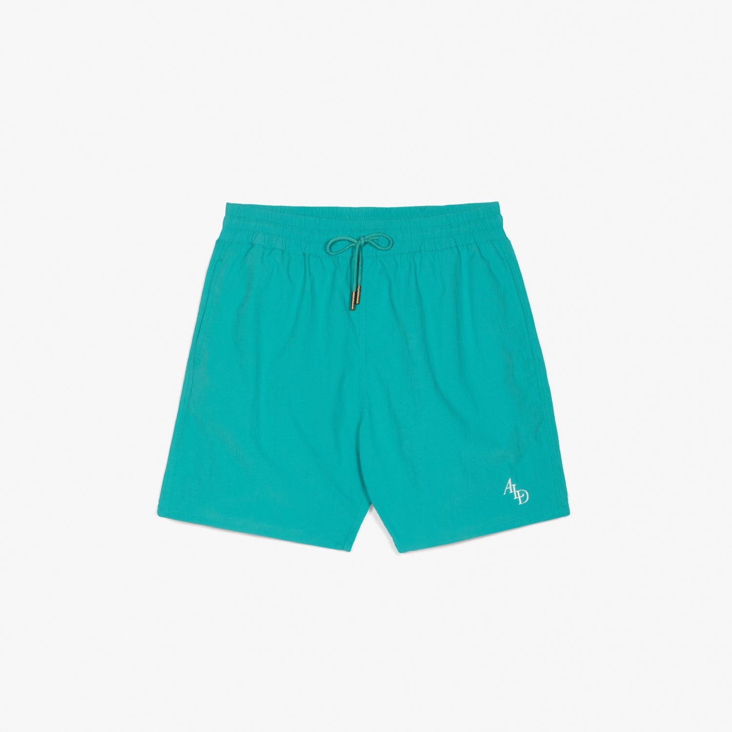MONOGRAM NYLON SHORTS - AQUA