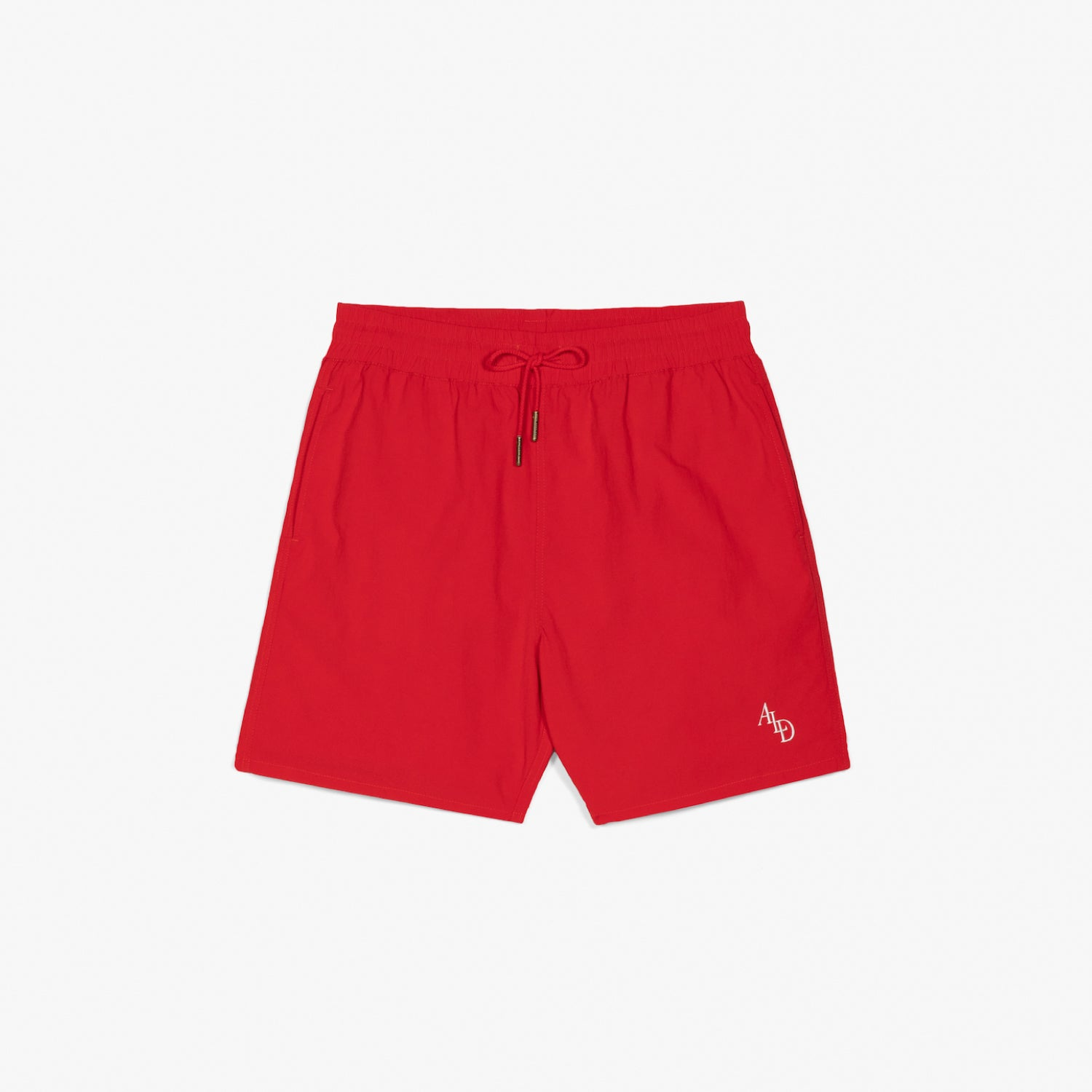 MONOGRAM NYLON SHORTS - RED