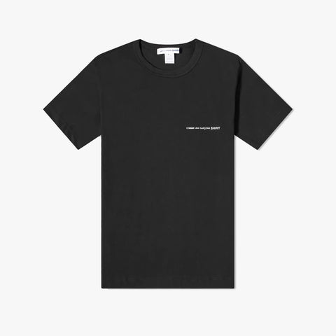 CHEST LOGO TEE - BLACK