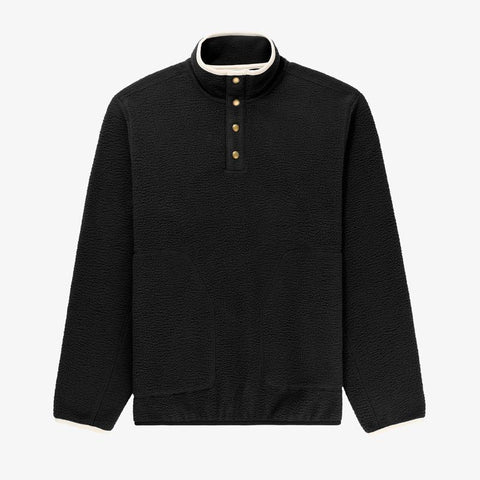 Deep Pile Pullover - BLACK