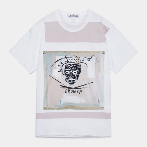 CDG SHIRT X BASQUIAT PRINT TEE - WHITE / GREY