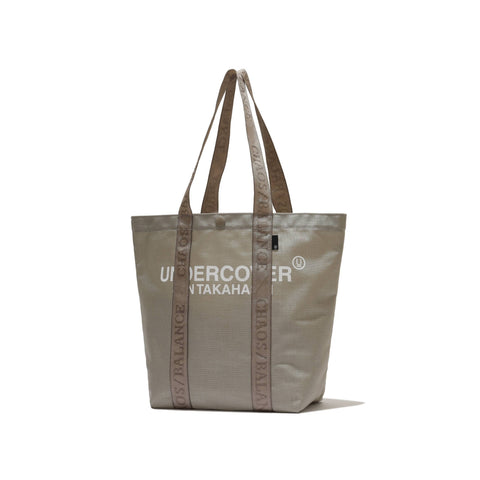 small nylon TOTE BAG - beige