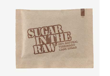 Case of Sugar in the Raw Packets