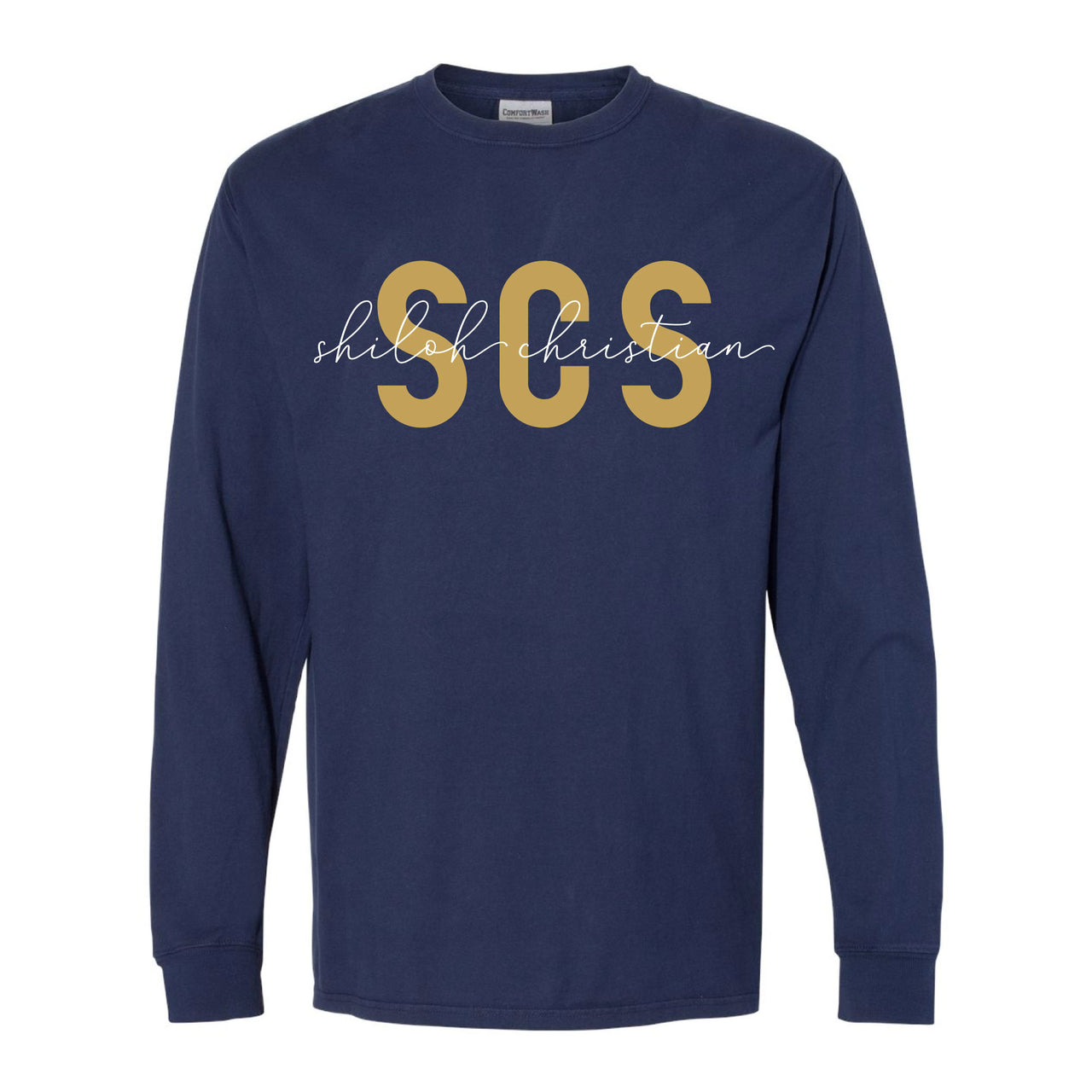 Adult Long Sleeve SCS Script Tee