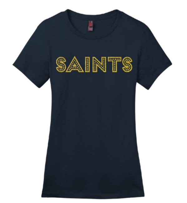 Ladies Glitter Saints Tee