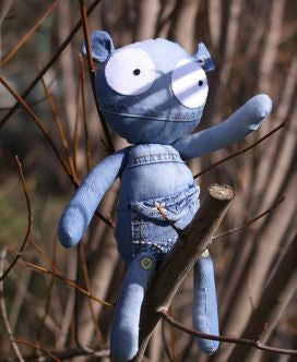 "THE Doll WITH ATTITUDE ""Puppe"" real upcycling"