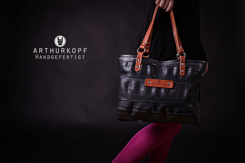 "ARTHURKOPF ""Schlauch Shopper"" real upcycling/ Handmade in Germany"