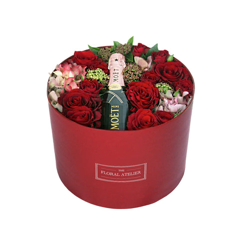 Moët Valentine Bloom-in-a-Box