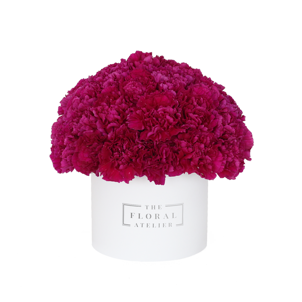 Petite Fuchsia Carnation Bloom Box