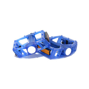 Blue Classic Bow PC Pedals - Boron Spindle & Ball Bearing with Reflector