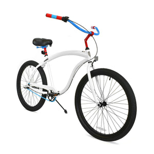 Chase | White, Red, and Sky Blue Curated Cruiser