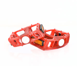 Red Classic Flat Pedals