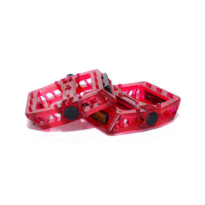 Berry Classic Bow Pedals - One-Piece PC - Boron Spindle & Ball Bearing with Reflectors